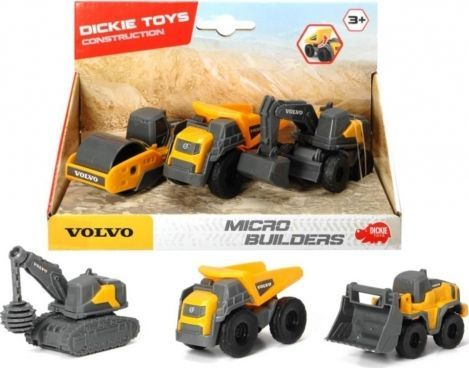 Dickie Pojazdy budowlane Volvo 3-pak 1