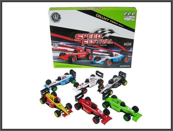Hipo Wyścigówka metalowa 13cm mix kolorów (HXDS47) 1