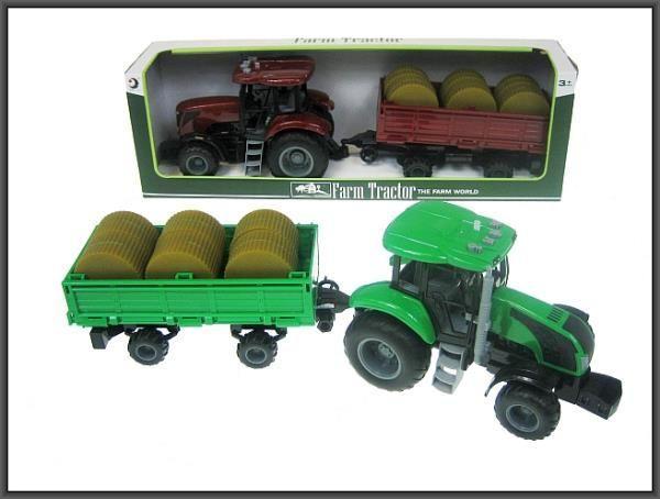 Hipo Traktor przyczepa siano 48cm z dźwiękiem w pudełku (HFT05) 1