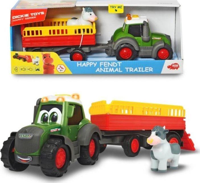 Dickie Happy Traktor Fendt i przyczepka 1