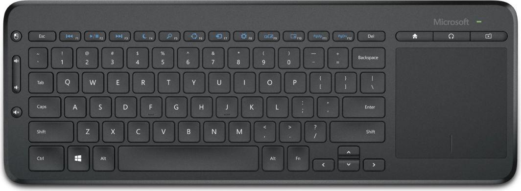 Klawiatura Microsoft All-in-one Media Bezprzewodowa Czarna US (N9Z-00022) 1