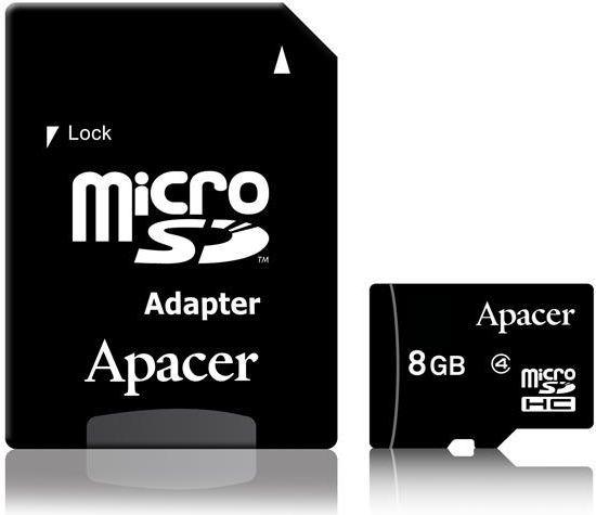 Karta Apacer AP8GMCSH4-R MicroSD 8 GB Class 4  (AP8GMCSH4-R) 1