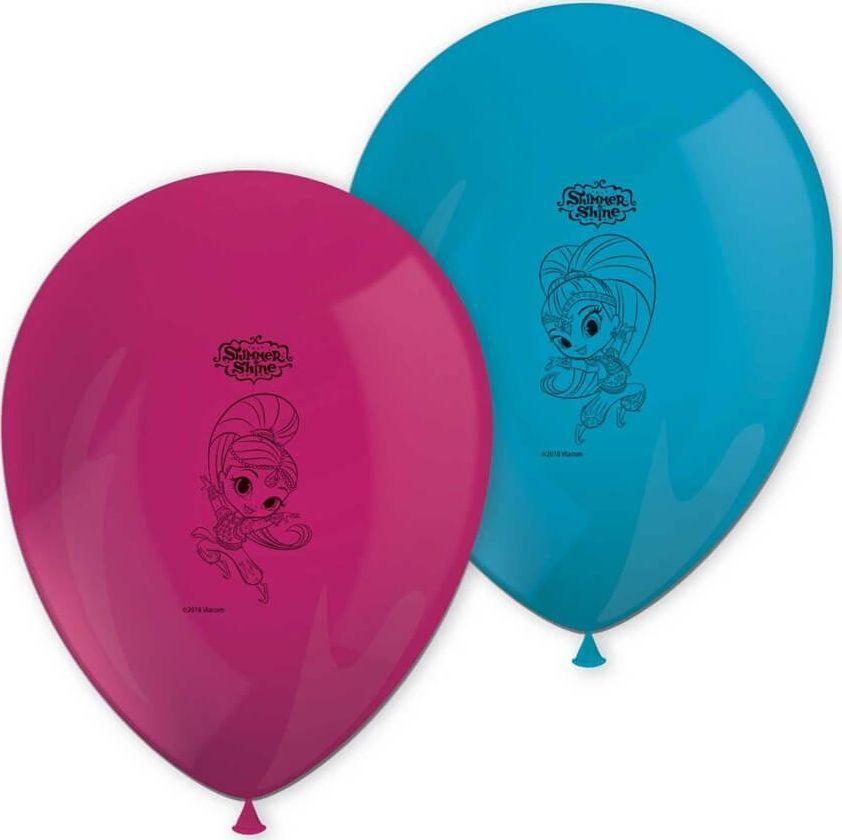 PROCOS Balony urodzinowe Shimmer i Shine - 29 cm - 8 szt. uniwersalny 1