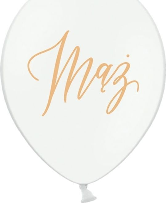 Party Deco Balon lateksowy z nadrukiem weselnym Mąż - 30 cm - 5 szt. uniwersalny 1