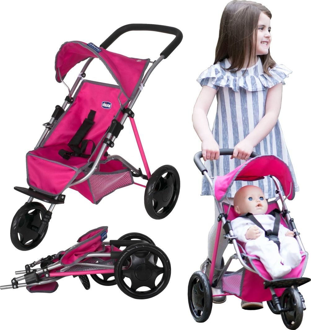 Chicco Chicco Wózek dla lalek spacerowy trójkołowy spacerówka Junior Activ3 uniwersalny 1