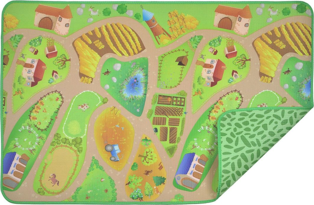Achoka Mata piankowa XPE edukacyjna dla dzieci Farma wieś ulice 150 x 98 x 0,5 cm uniwersalny 1