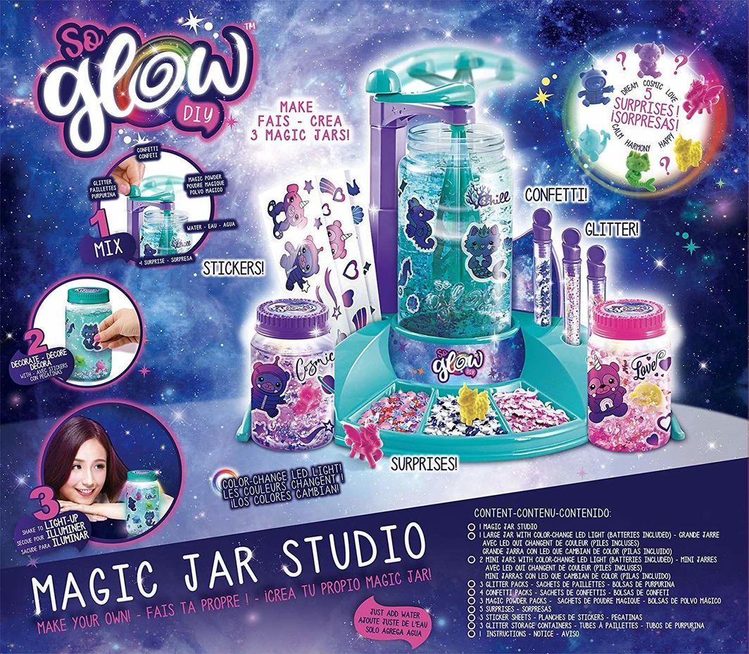Canal Toys Canal Toys SGD 004 So Glow Slime Świecące słoiczki Fabryka Zestaw do tworzenia glutów slimów uniwersalny 1