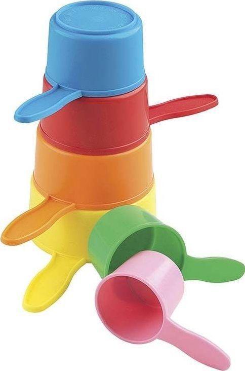 Casdon Casdon Zestaw Kolorowych Kubeczków do układania dla Dzieci uniwersalny 1