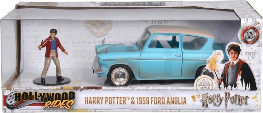Jada Toys Harry Potter latający Ford 1959 Anglia + figurka niebieski 1