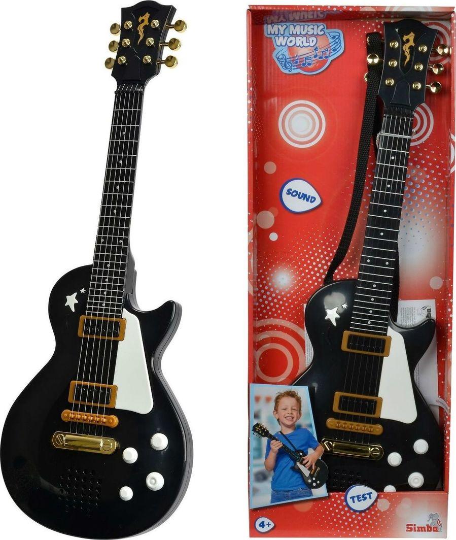 Simba Simba Gitara elektryczna rockowa czarna 683-7110 uniwersalny (4910-uniw) - 4910-uniw 1