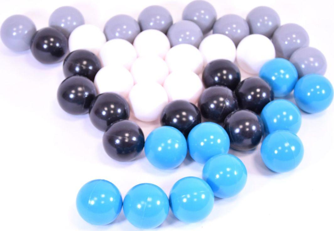 Piłki plastikowe 40 sztuk Niebieskie, białe, szare i czarne Mix uniwersalny 1