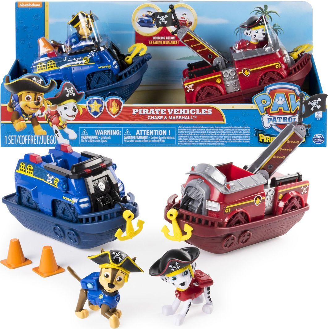 Spin Master Spin Master Psi Patrol zestaw Statki pirackie Chase i Marshall uniwersalny 1