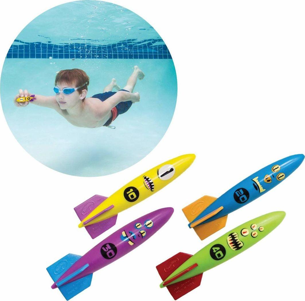 Spin Master Swimways Torpedy podwodne do nurkowania 4 sztuki Spin Master uniwersalny 1