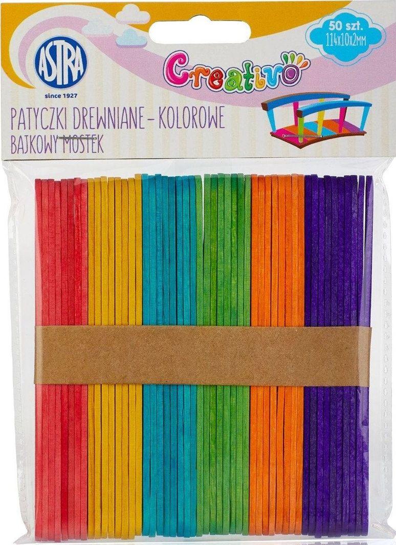 Astra Patyczki Drewniane Kolor Bajkowy Mostek 49 sztuk uniwersalny 1