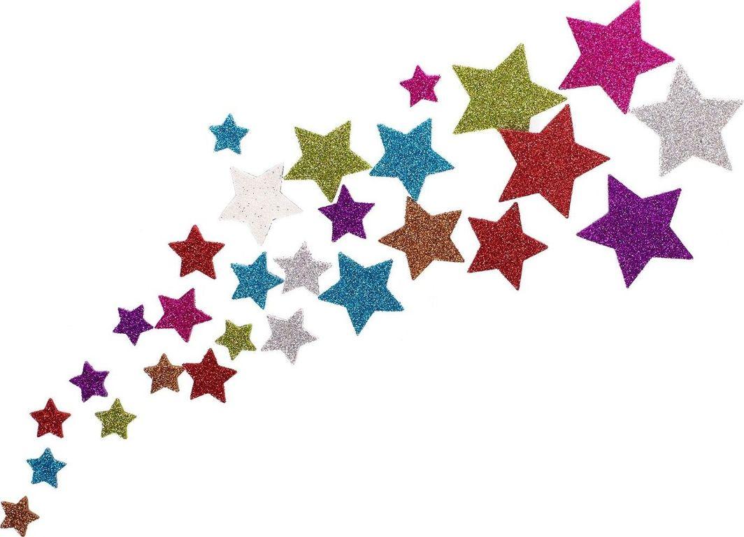 Astra Astra - Naklejki Dekoracyjne - Brokatowe Gwiazdki uniwersalny 1