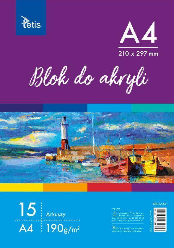 Tetis Blok do malowania A4 15k biały  1