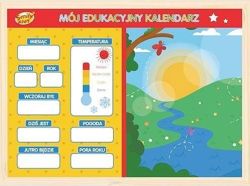 Smily Play Mój Edukacyjny Kalendarz Drewniany Magnetyczny Smily Play uniwersalny 1