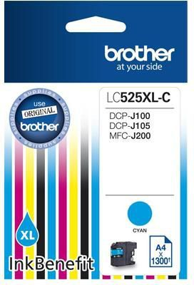 Brother tusz oryginalny LC525XLC (cyan) 1