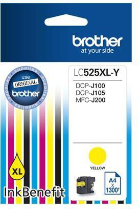 Brother tusz oryginalny LC525XLY (yellow) 1