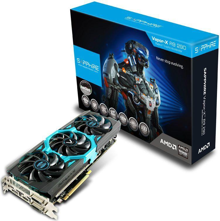 Karta graficzna Sapphire Radeon R9 290 Vapor-X Tri-X OC 4GB DDR5 (512-bit) 2xDVI-D, HDMI, DisplayPort (11227-04-40G) 1