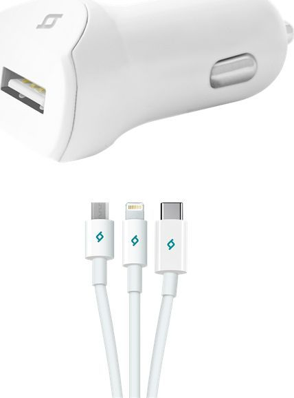 Ładowarka TTEC TTEC Speedcharger Ładowarka samochodowa USB 2.1A micro USB+lightning+USB C uniwersalny ID produktu: 6387436