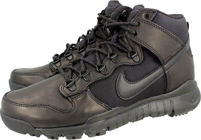 buty sneakers boots nike męskie czarne