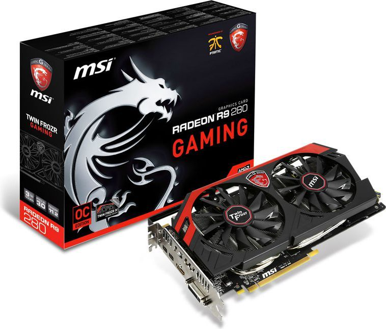 Karta graficzna MSI Radeon R9 280 3GB DDR5 (384-bit) DVI-I, HDMI, DisplayPort (R9 280 GAMING 3G) 1
