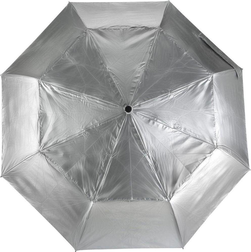 Kemer Składany parasol automatyczny KEMER Srebrny uniwersalny 1