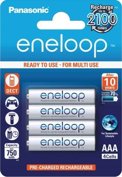 Panasonic Akumulator Eneloop AAA / R03 750mAh 4szt. 1