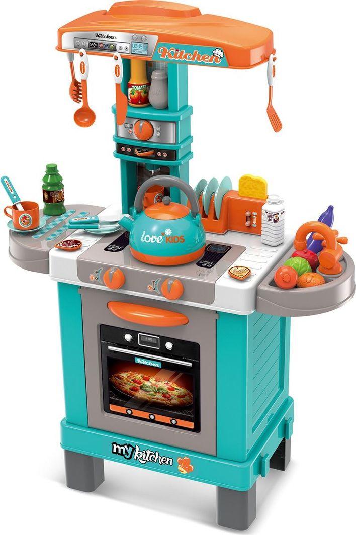 Enero Kuchnia dla dzieci 32 elementy błękitna 64x29x87cm uniwersalny 1