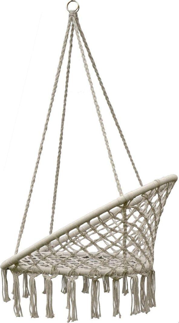 Saska Garden Hamak ażurowy fotel wiszący 80 x 60 cm Ecru uniwersalny 1