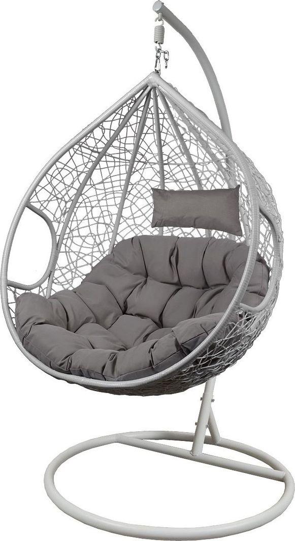 Saska Garden Fotel bujany cocoon XXXL z technoratanu Szary / Biały uniwersalny 1