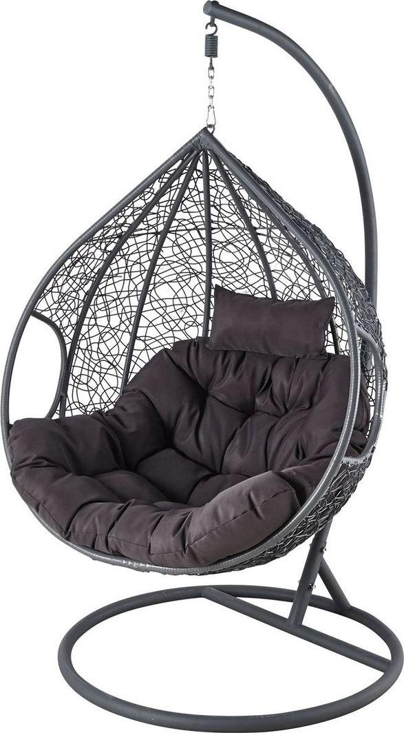 Saska Garden Fotel bujany Cocoon rozmiar XXXL z technoratanu Szary / Antracyt uniwersalny 1