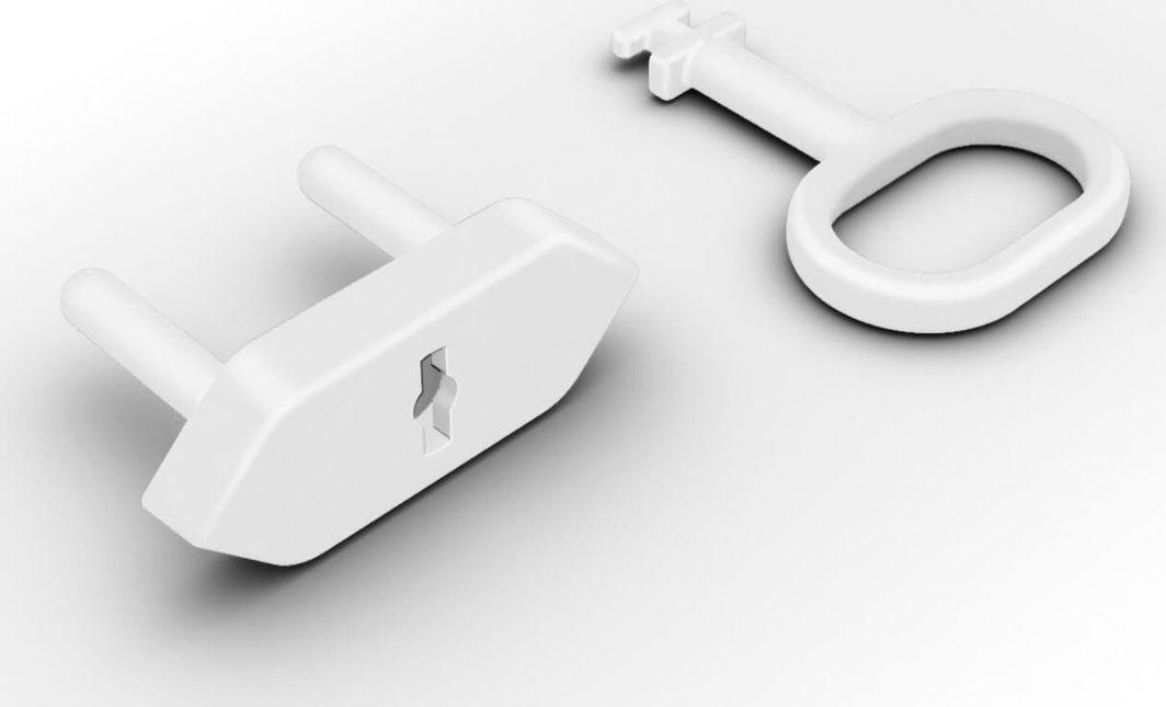 Reer Zabezpieczenia gniazdek zaślepki 8szt + klucz REER uniwersalny 1