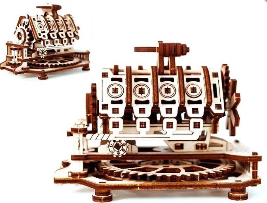 WOODEN CITY Drewniana puzzle 3D Silnik V8 1