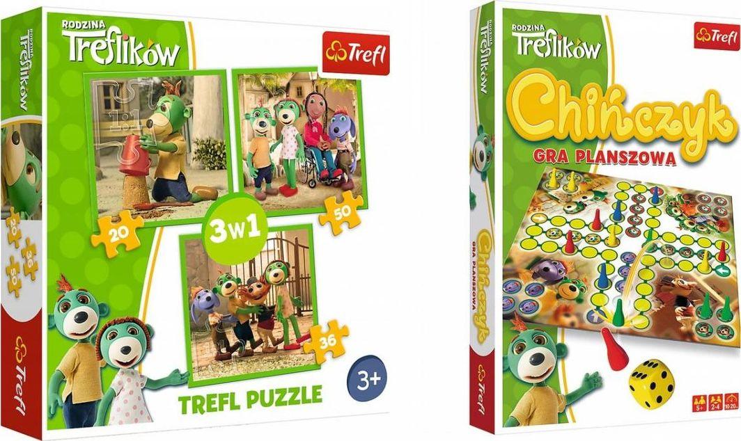 Trefl Trefliki 3w1 + Chińczyk 1