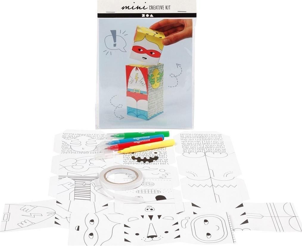 Creative Company Zestaw mini Układanie bloków - Potwory i roboty 1