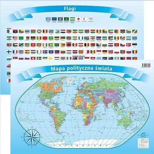 Artglob Podkładka na biurko - Mapa polity. z flagami Świat 1