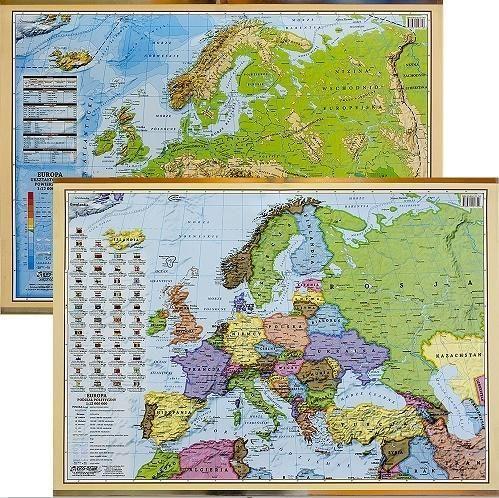 EkoGraf Podkładka na biurko - Mapa pol-fizyczna Europy 1
