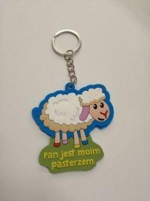Breloczek Szaron Brelok gumowy - owca - Pan jest moim pasterzem 1