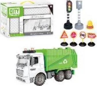 Icom Śmieciarka z akcesoriami zielono-biała 1