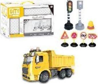Icom Śmieciarka z akcesoriami żółta 1