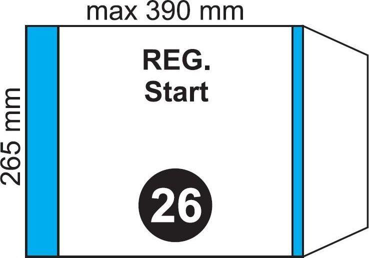 Folplast Okładka na podr regulowana NR 26 (20szt) 1