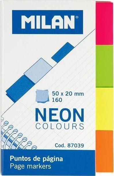 Milan Indeksy neon kolorowe 50x20mm MILAN 1