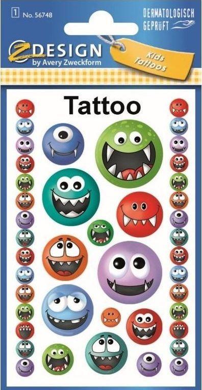 Avery Zweckform Tatuaże - Potworki 1
