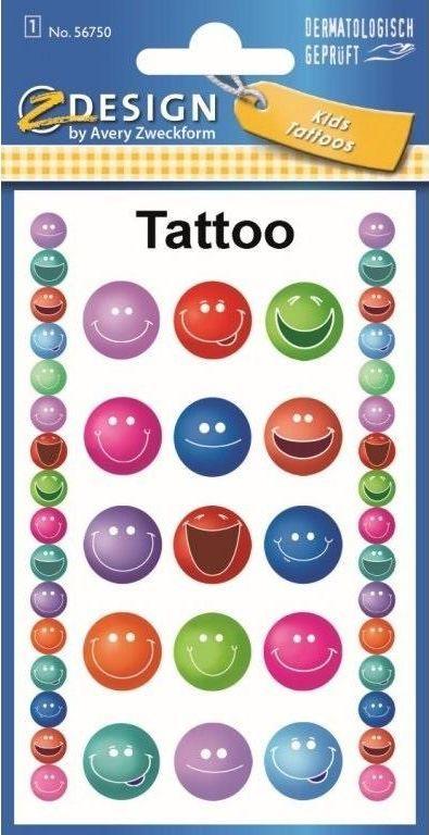 Avery Zweckform Tatuaże - Uśmiechy 1
