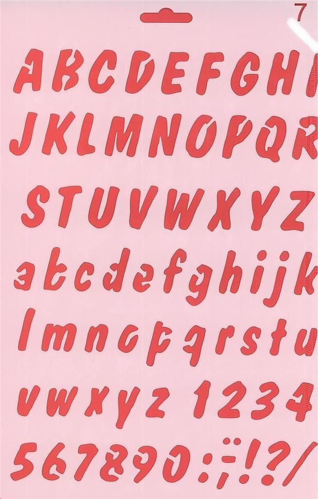 Koh-I-Noor Szablon 07 alfabet 1