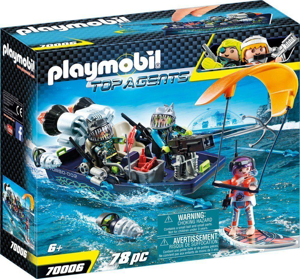 Playmobil Team S.H.A.R.K. Łódź z harpunem (70006) 1