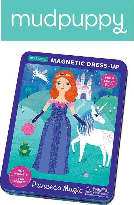 Mudpuppy Mudpuppy Magnetyczne postacie Magiczne księżniczki 4+ 1