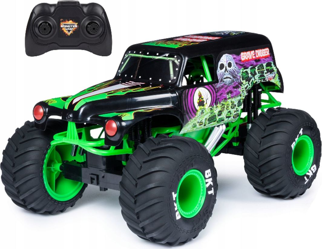 Spin Master Monster Jam Wielki pojazd 1:10 Grave Digger 1